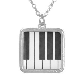 私の鍵のピアノ鍵! シルバープレートネックレス