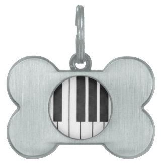 私の鍵のピアノ鍵! ペットネームタグ