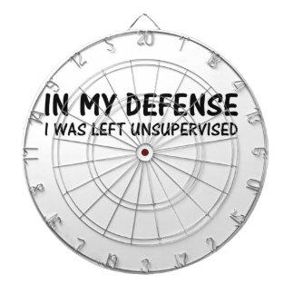 私の防衛で私は監視されていない残っていました ダーツボード