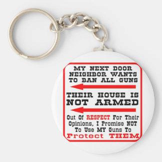 私の隣家の人すべての銃を禁止したいと思います キーホルダー