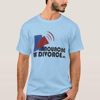 私の離婚した男性の青いTシャツの発表 Tシャツ