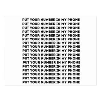 私の電話にあなたの数を置いて下さい ポストカード