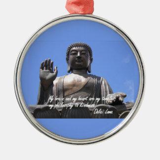 私の頭脳および私のハートは私の寺院ダライ・ラマです メタルオーナメント