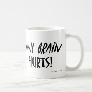 私の頭脳の傷! コーヒーマグカップ