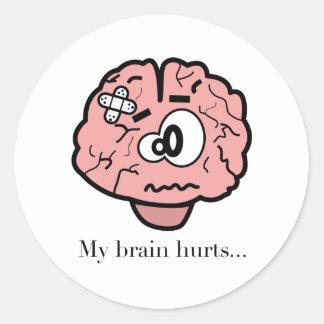 私の頭脳の傷 ラウンドシール
