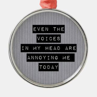 私の頭部の声 メタルオーナメント