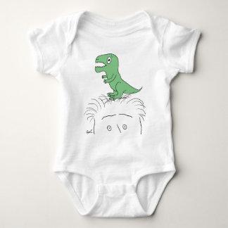 """""""私の頭部の恐竜!"""" 服装(緑のディーノ) ベビーボディスーツ"""