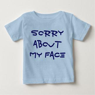 私の顔について残念 ベビーTシャツ