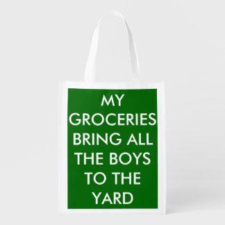 私の食料雑貨はヤードに男の子全員を連れて来ます エコバッグ