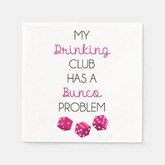 私の飲むクラブはBunco問題のおもしろいなナプキンを持っています スタンダードカクテルナプキン
