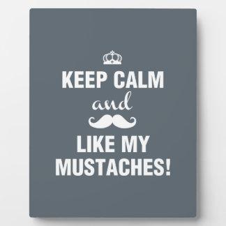 私の髭の引用文のような平静を保てば フォトプラーク