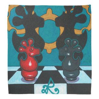 私の鬼の正方形のスカーフの直面 バンダナ