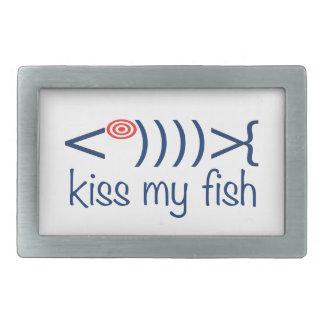 """""""私の魚""""にタイポグラフィのデザイン接吻して下さい 長方形ベルトバックル"""