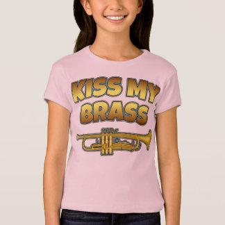 私の黄銅-トランペット--に接吻して下さい Tシャツ