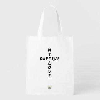 私の1本当愛十字の再使用可能な買い物袋 エコバッグ