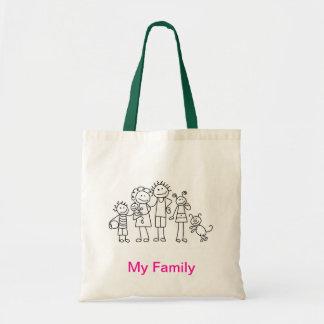"""私の""""家族""""のバッグ トートバッグ"""