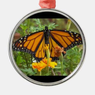 私の(昆虫)オオカバマダラ、モナークの蝶優れた円形のオーナメント メタルオーナメント