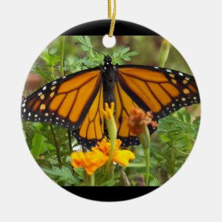 私の(昆虫)オオカバマダラ、モナークの蝶円のオーナメント セラミックオーナメント