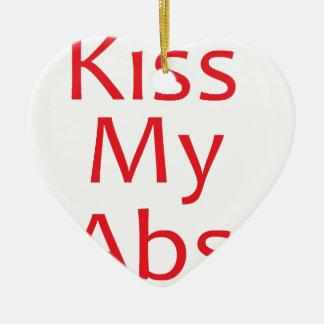私のABS赤に接吻して下さい 陶器製ハート型オーナメント