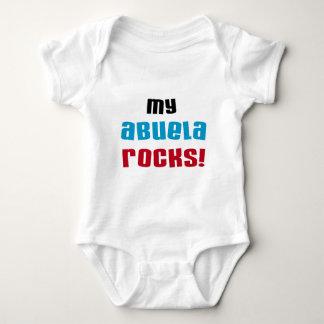 私のAbuelaはTシャツおよびギフトを揺すります ベビーボディスーツ