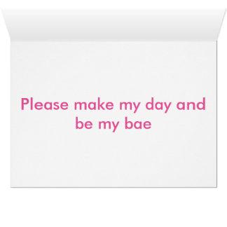 私のbaeのバレンタインのカードです カード