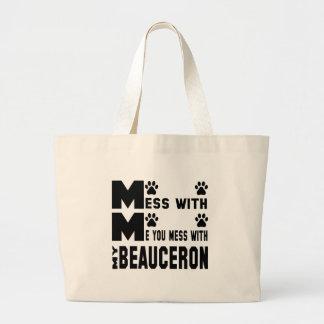 私のBeauceronと台なしにします ラージトートバッグ