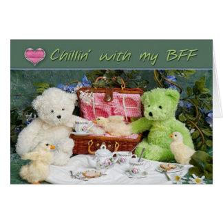 私のBFFのCHILLIN -挨拶状-おもしろい! カード