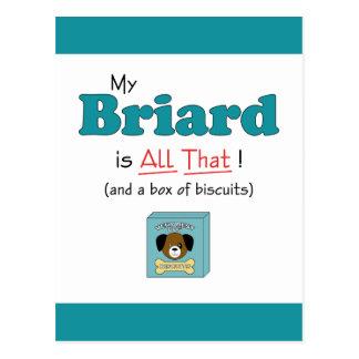 私のBriardはすべてそれです! ポストカード