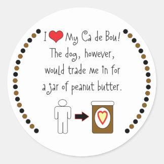 私のCa de Bou Lovesのピーナッツバター ラウンドシール