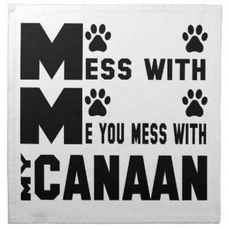 私のCanaanと台なしにします ナプキンクロス