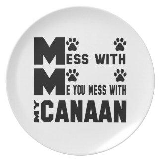 私のCanaanと台なしにします プレート