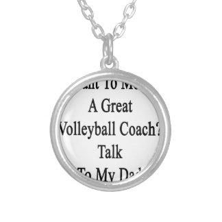 私のDに素晴らしいバレーボールのコーチの話に会いたいと思って下さい シルバープレートネックレス