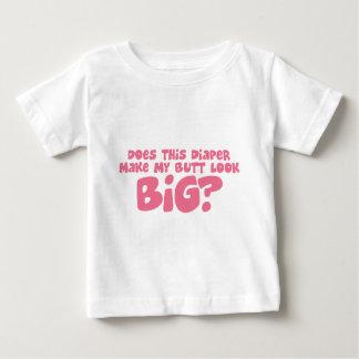 私のDiperをさせます私のお尻の一見を大きくします ベビーTシャツ