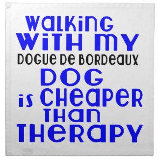 私のDogue de Bordeaux Dogと歩くことは設計します ナプキンクロス