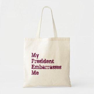 私のEmbarrasses Me大統領のトートバック トートバッグ
