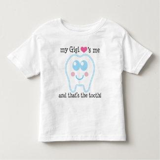 私のGigiは私を歯愛します トドラーTシャツ