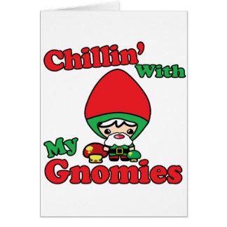 私のGnomiesのかわいいの格言のToadstoolとのChillin カード