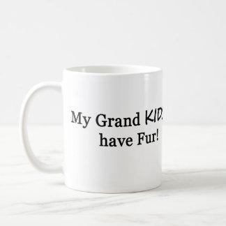 私のGrandsKIDSに毛皮のマグがあります コーヒーマグカップ