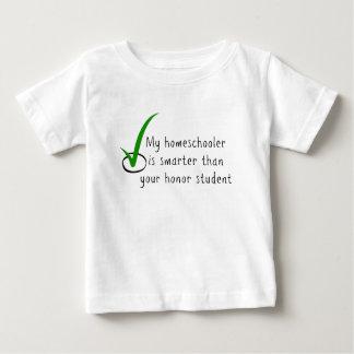 私のHomeschoolerはあなたの名誉学生より頭が切れるです ベビーTシャツ