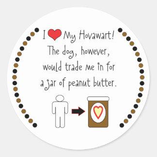 私のHovawartはピーナッツバターを愛します ラウンドシール