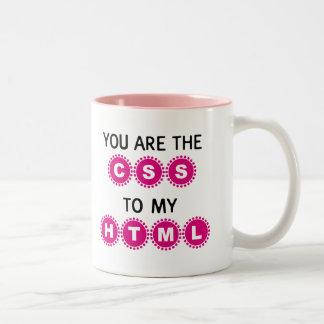 私のHTMLへCSSです ツートーンマグカップ