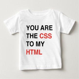 私のHTMLへCSSです ベビーTシャツ