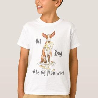 私のIbizan猟犬は私の宿題を食べました Tシャツ