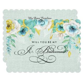私のJr.Bridesmaidですか。 カスタムな招待状 12.7 X 17.8 インビテーションカード