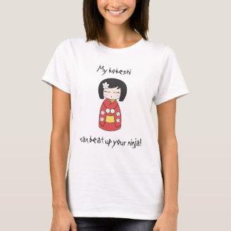 私のKokeshiはあなたの忍者を打ちのめすことができます! Tシャツ