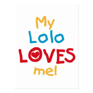 私のLoloは私をTシャツおよびギフト愛します ポストカード