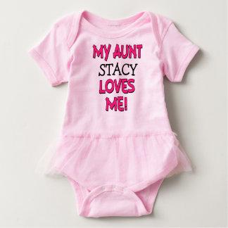 私のLoves Me Custom叔母さんのベビーのワイシャツの女の子の姪 ベビーボディスーツ