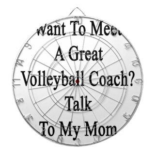 私のMに素晴らしいバレーボールのコーチの話に会いたいと思って下さい ダーツボード