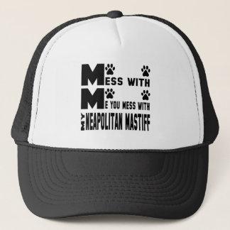 私のNeapolitanマスティフと台なしにします キャップ