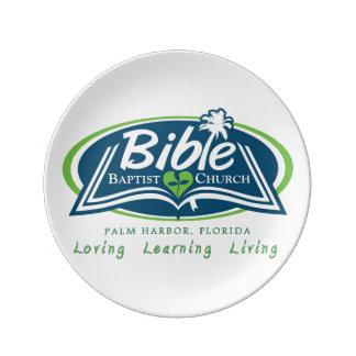 私のPalm Harborフロリダの聖書のバプテストの服装 磁器プレート